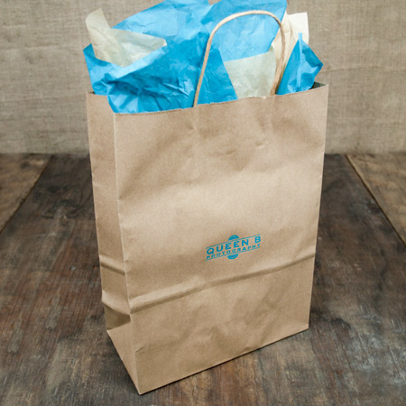 "10x5x13"" Kraft Shopper Bag - 100% Recycled"