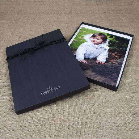 "11x14x1"" Black Kraft Box - Full case of 30"