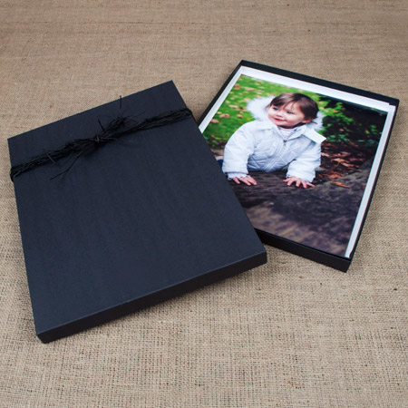 "11x14x1"" Black Kraft Box mini case of 10"