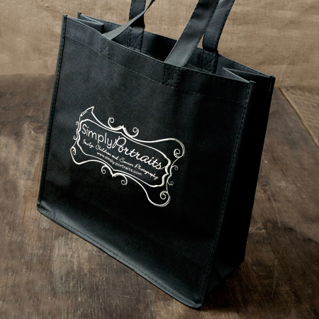 "13""x13""x5"" Black Album Bag"