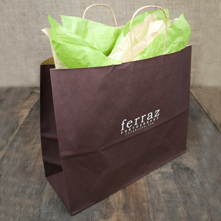 "16x6x13"" Chocolate Shopper Bag"