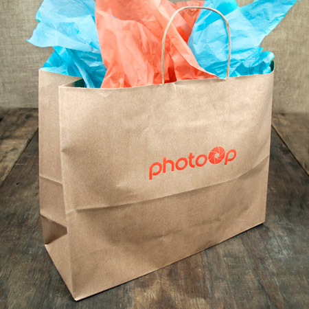 "16x6x13"" Kraft Shopper Bag - 100% Recycled"