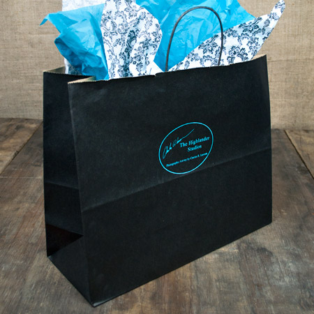 "16x6x13"" Black Shopper Bag"