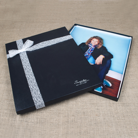 "16x20x1"" Glossy Black Box - Full case of 10"