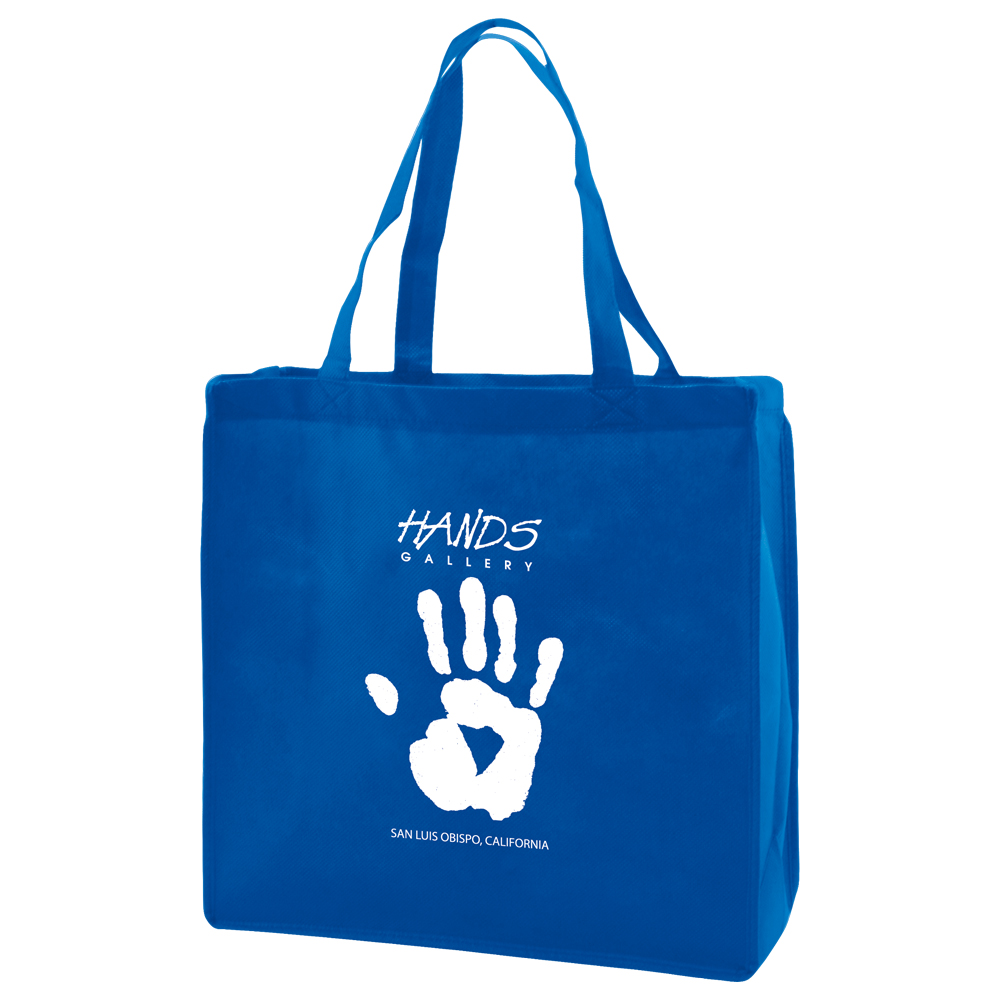 "13x5x13"" Reusable Tote Bag with logo"
