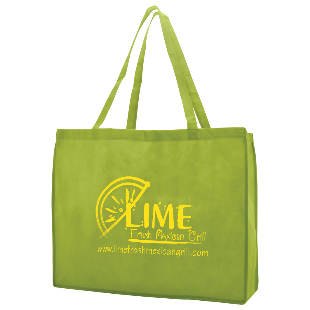 "20x6x16"" Reusable Tote Bag with logo"