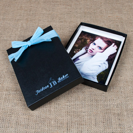 "5x7x1"" Glossy Black Box - Full case of 50"