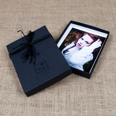 5x7x1 Black Kraft Box - Mini case of 25
