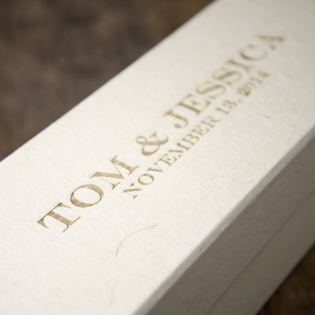 WINE HANDMADE BOX - ENGRAVED