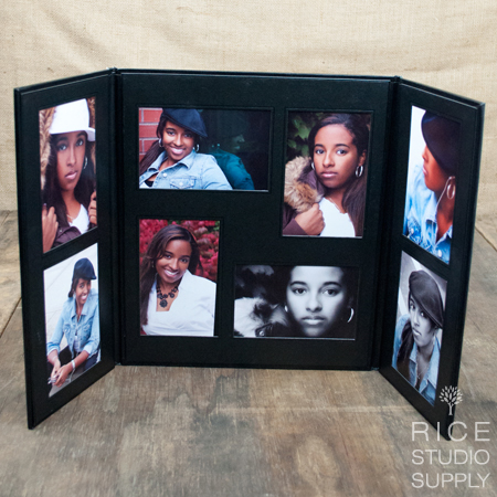 8 - 4x6 Portrait Gallery Folio Black/Black 6V/2H