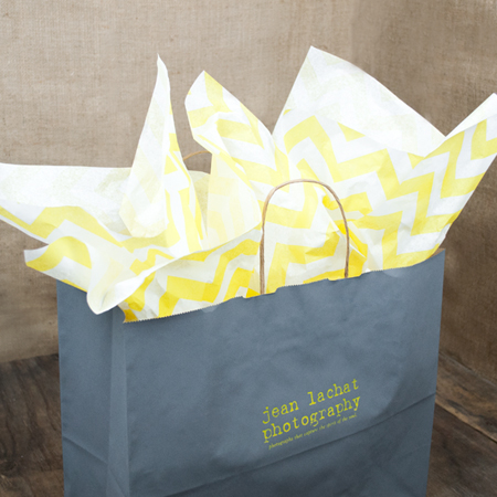 Yellow on White Chevron Tissue