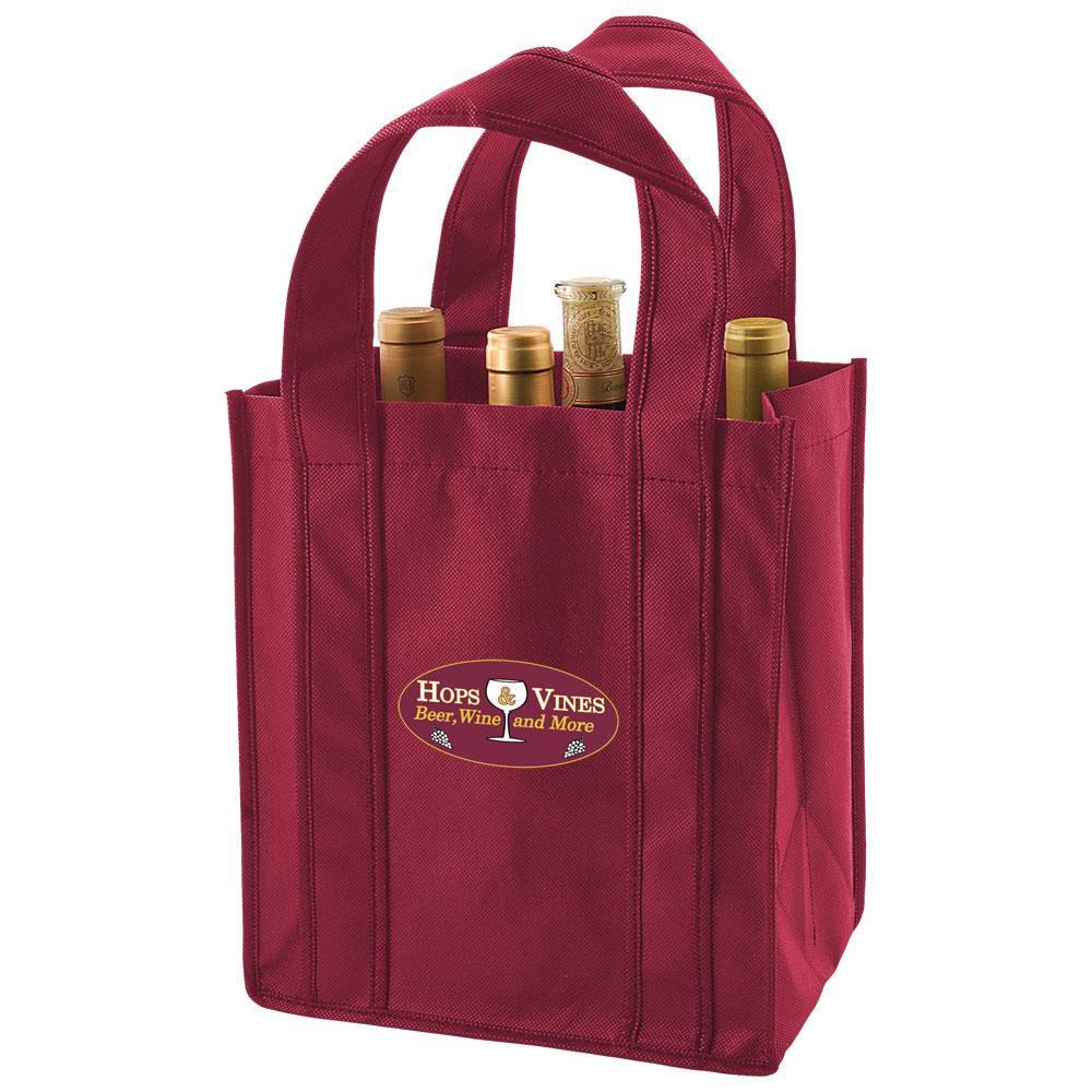 6 Bottle Reusable Wine Tote Bag 100 Bags Zen Cart