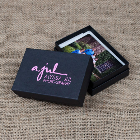 "2.5 x 3.75 x 1"" Black Kraft Box - Medium case of 50"