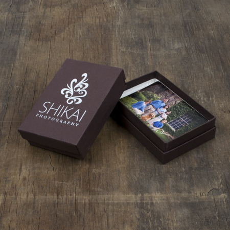 "2.5 x 3.75 x 1"" Chocolate Wallet Box - Mini case of 25"
