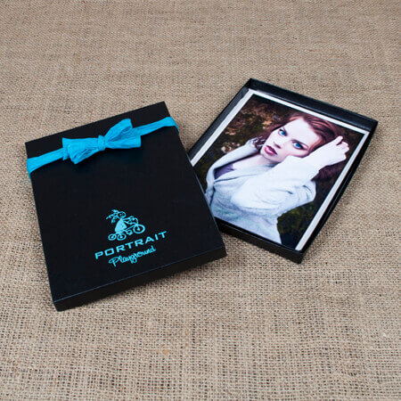 "5x7x1/2"" Glossy Black Box - Medium case of 50"