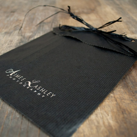 "9.5 x 12"" Black Kraft Flat Bag pack of 100"