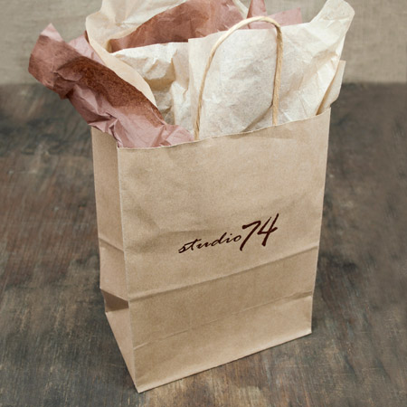 "8x4 x10"" Kraft Shopper Bag - 100% Recycled"