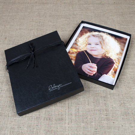 "8x10x1"" Glossy Black Box - Full case of 30"