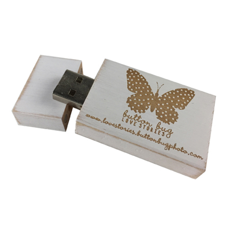 USB FLASH DRIVE - 4GB Vintage White 2.0.