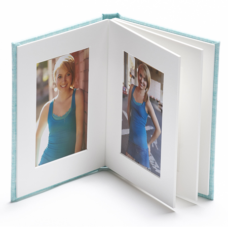 MATTED FOLIO ALBUMS - COASTAL LINEN COVER ( Starting at $ 85.00 )