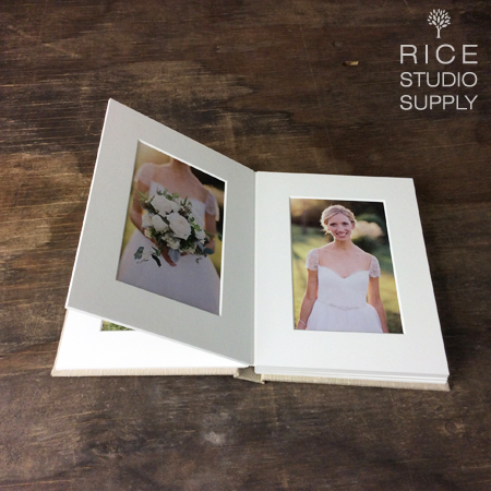 MATTED FOLIO ALBUMS WITH LINEN / SILK COVER ( HANDCRAFTED IN USA )
