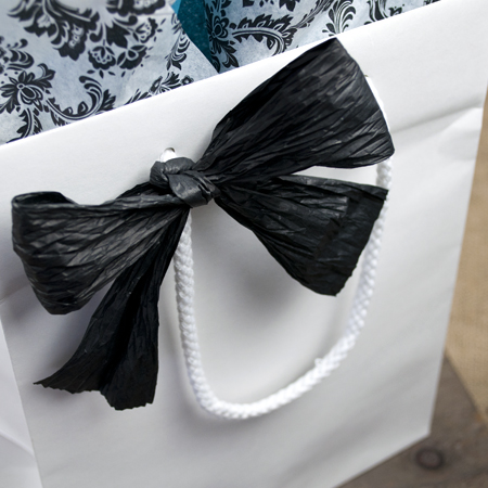 Black Paper Ribbon