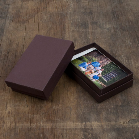 "2.5 x 3.75 x 1"" Chocolate Box mini case of 25"