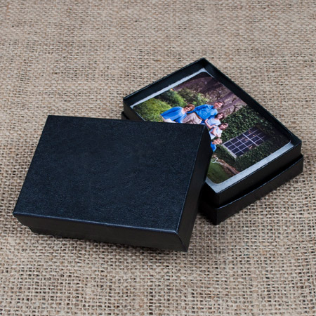 "2.5 x 3.75 x 1"" Black Glossy Box mini case of 25"