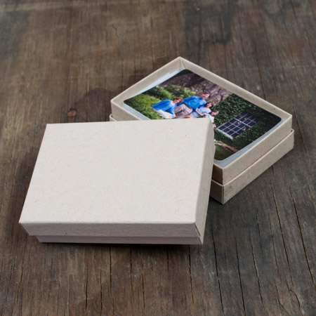 "2.5 x 3.75 x 1"" Kraft Box mini case of 25"