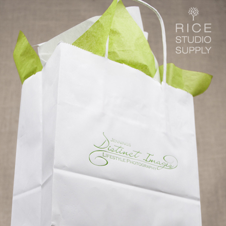 White Kraft Shopper Bags