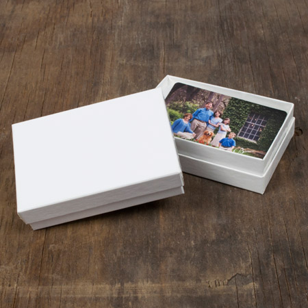 "2.5 x 3.75 x 1"" White Box mini case of 25"